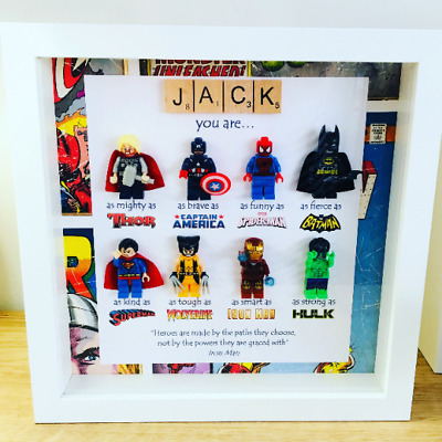 £34.99 • Buy Personalised Picture Frame FATHERS DAY Birthday Gift Frame Marvel Superhero
