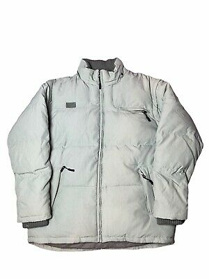 $41.59 • Buy Mens FILA Grey Long Sleeve Puffer Jacket With Removable Sleeves Size L/XL