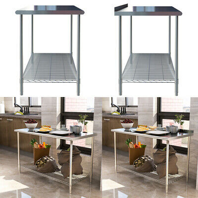 £135.95 • Buy Commercial Kitchen Stainless Steel Table Catering Food Pre Work Table Bench Top