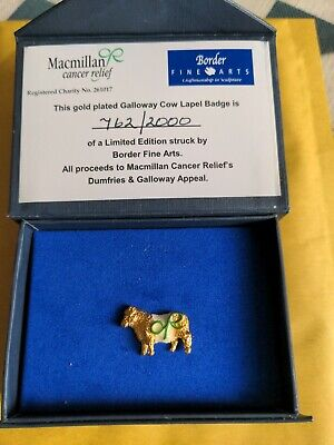 £10 • Buy Macmillan Cancer Charity Badge Gold Plated Limited Edition Pin Cow