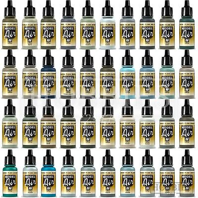 £3.40 • Buy Vallejo Model Air Paints Acrylic Airbrush Colours 263 To 348 Spray 17ml Bottles