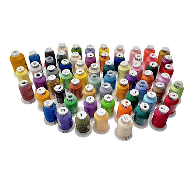 $34 • Buy Embroidery Machine Thread 62 500m Spools 1 1500 Yd Some New 63 Spools Total
