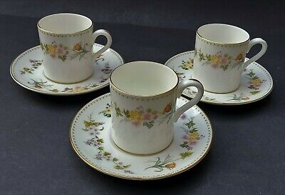 £14.99 • Buy Three Bone China Wedgwood Mirabelle Coffee Cups And Saucers