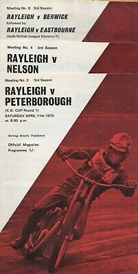 £2.50 • Buy 10 1970 Rayleigh Speedway Home Programmes
