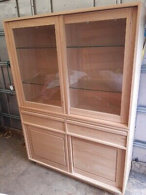£1100 • Buy Ercol Blonde Display Unit , Lighted Cabinet , Wall Unit, Book Shelf, Ercol Light