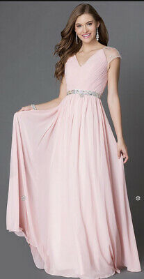£9.98 • Buy Prom Dress Party Dress Ball Gown Roiiiii Pleated Top Sequin Trim XL UK 14 NWT