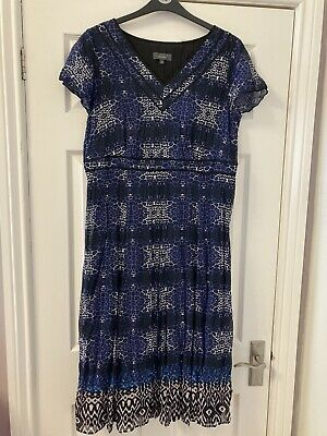 £3.50 • Buy Ladies Calf Length Per Una Marks And Spencer Plus Size 18 Summer Party Dress