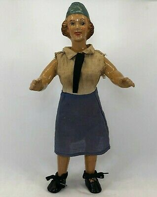 $100 • Buy Vintage Freundlich Composition US Military WWII WAVES Female Doll