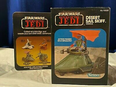 $ CDN116.16 • Buy Star Wars Vintage ROTJ Desert Sail Skiff Mini-Rig Mint In Sealed Box MISB