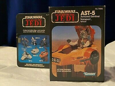 $ CDN112.53 • Buy Star Wars Vintage ROTJ AST-5 Armored Sentinel Mini-Rig Mint In Sealed Box MISB