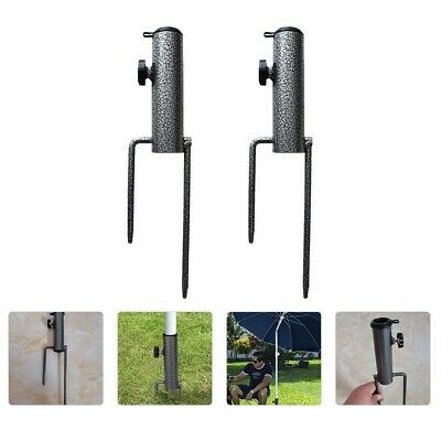 AU38.44 • Buy 2pcs Multipurpose Durable Portable Light Umbrella Anchor Stakes For Outdoor