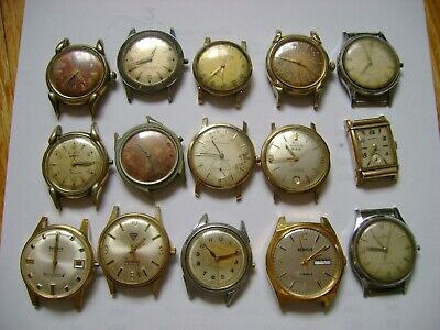 $ CDN302.49 • Buy Lot 15 Vintage Benrus Watches For Parts Or Restore