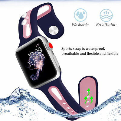 AU12.99 • Buy For Apple Watch IWatch Series SE 6 5 4 3 38 40 42 44mm New Silicone Band Strap