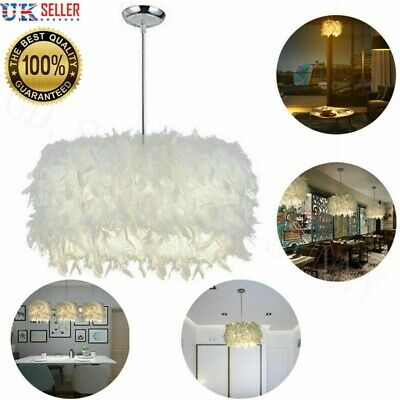 £12.99 • Buy Feather Ceiling Pendant Light Shade Morden Living Bedroom Nordic Style Lampshade