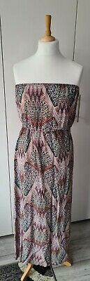 £1.10 • Buy New Look Multicoloured Bandeau Maxi Dress, Size 12 (C4)