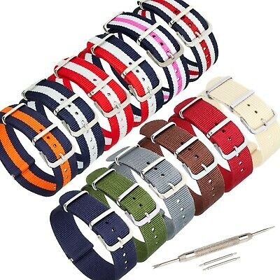 £3.95 • Buy NATO Style Watch Strap Band Army Military Nylon Webbing 18mm 20mm 22mm Pins Tool