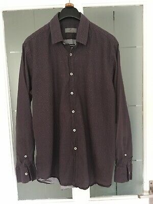 £23 • Buy Canali Mens Snowflake Patterned Soft Cotton Shirt Size Xl