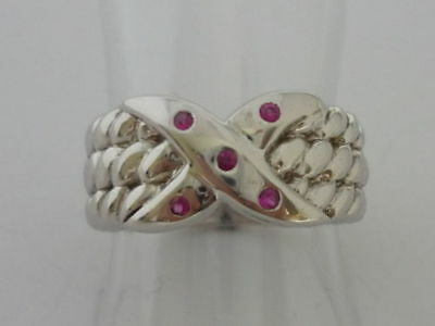 £49.99 • Buy Stunning Ruby & Sterling Silver Ring Size L