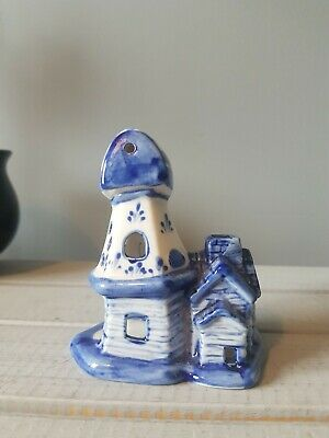 £0.99 • Buy Traditional Vintage Delft Blue And White Windmill Ornament - Retro