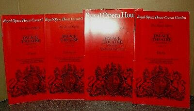 £3 • Buy The Royal Opera House X 4 Programmes (at Palace Theatre, Manchester) GC