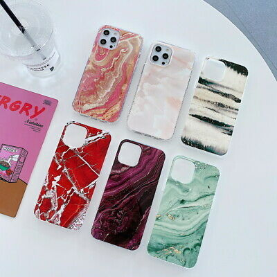 AU5.14 • Buy Marble Phone Case For IPhone 12 Pro Max 11 XR XS X 8 7 Plus Soft Silicone Cover