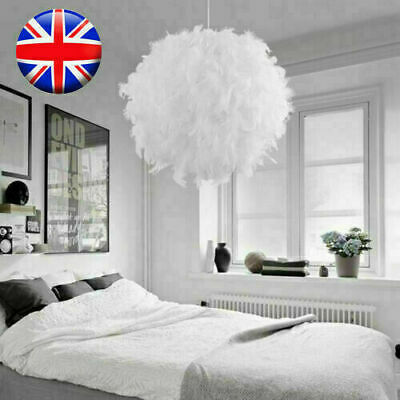 £13.99 • Buy Feather Round Ceiling Light Shade Pendant Lampshade Sphere Modern Style Uk