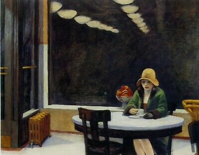£19.99 • Buy Edward Hopper Automat FAMOUS ARTISTS 30x20 Inch Canvas Framed READY TO HANG!!!