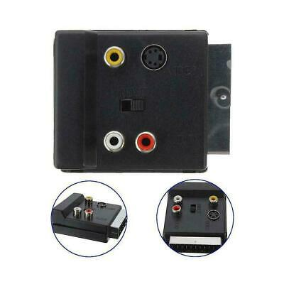 £2.45 • Buy SWITCHABLE SCART MALE TO FEMALE & 3*RCA PHONO & 4 Pin ADAPTER TV Mini Din G1G2