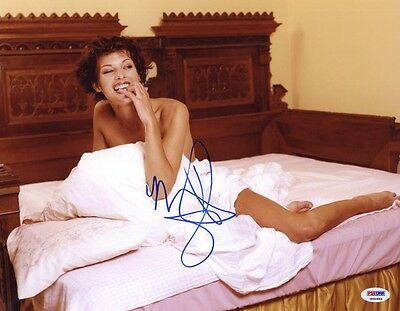 $165 • Buy MILLA JOVOVICH SIGNED AUTOGRAPHED 11x14 PHOTO VERY RARE PSA/DNA