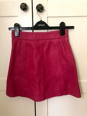 £40 • Buy Topshop Boutique Pink Real Leather Mini Skirt - Size 6. Very Good Condition