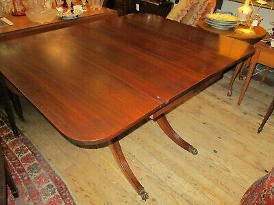 $355 • Buy Vintage Mahogany Duncan Phyffe Style Drop-Leaf Dinning Table