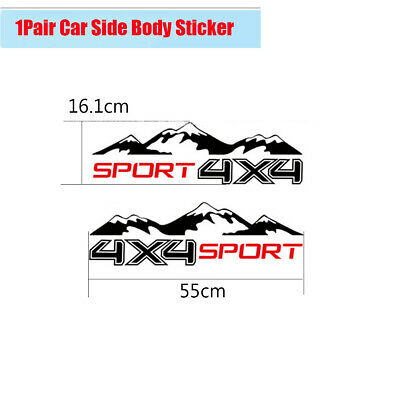 $12.08 • Buy DIY 2Pcs Car Body Decal Sticker 4X4 Mountain Sport Decal For Jeep Truck Pickup
