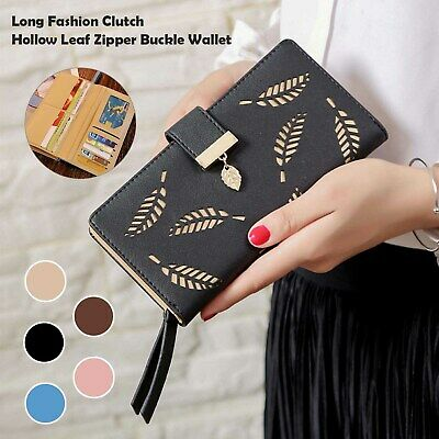 £6.29 • Buy Lady Leather Wallet Long Large Purse Card Phone Holder Case Clutch Handbag New