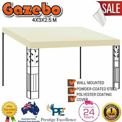 AU259.97 • Buy New Outdoor Gazebo Tent Party Event Shade Canopy Side Wall Gazebos Shelter Cream
