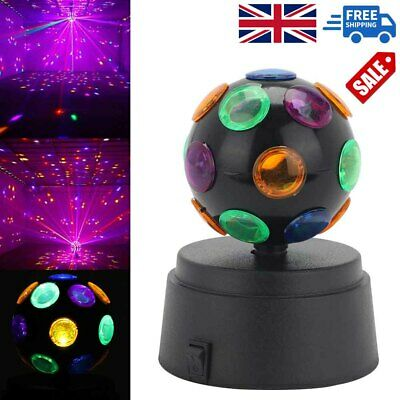 £8.59 • Buy DJ Light Disco Ball Lamp Crystal Party Rotating LED Stage Lighting Club Battery