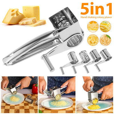 £8.98 • Buy Stainless Steel Rotary Cheese Grater Shred Carrot Cutter Grinder Kitchen Tool