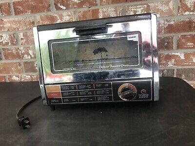£14.15 • Buy Vintage Working Robeson Deluxe Toaster Oven Chrome Space Saving/Small Compact