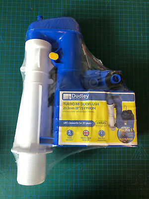 """£16 • Buy Dudley Turbo 88 Toilet Syphon Duo Flush 8"""" 203mm"""