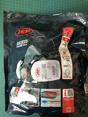 £19 • Buy JSP Force 8 (Medium) Protective Safety Mask P3 RD - Filters Included