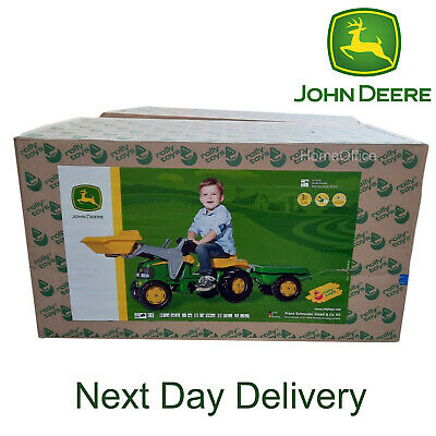£94.95 • Buy John Deere Tractor, Trailer And Loader Ride On For Kids New Child Toy