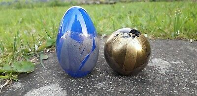 £19.99 • Buy Isle Of Wight Glass Paperweights Black & Blue Azurene Gold