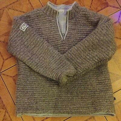 £20 • Buy PACHAMAMA Hand Knitted Wool Jumper L/XL Armpit To Armpit 25 Inches