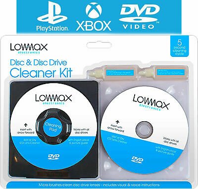 £2.65 • Buy Laser Lens Cleaner Cleaning Kit For Ps3 Xbox 360 Blu Ray Dvd Player Car Cd Disc