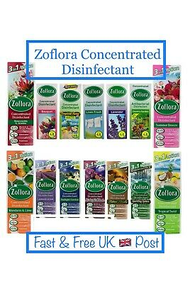 £6.99 • Buy Zoflora Concentrate 120ml, 250ml Or 500ml 3 In 1 Action All Day Freshness Scents