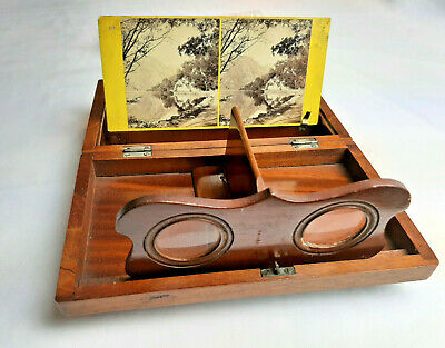 £145.22 • Buy Antique STEREOPTICON STEREO CARD VIEWER Stereoviews Locked Box