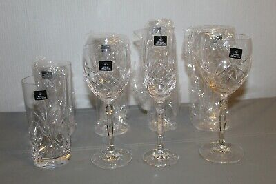 £40 • Buy Royal Doulton Daily Mail 24% Lead Crystal Glasses X 8