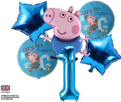 £3.50 • Buy 31  George Pig & Peppa Pig  Large Number Foil Balloon Party Birthday Decoration