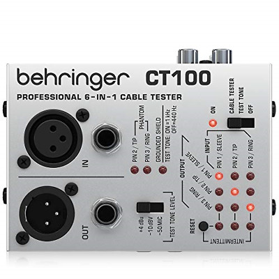 £18.73 • Buy Behringer 6-In-1 CT100 Cable Tester