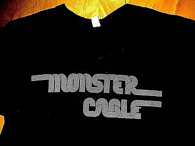 £21.73 • Buy MONSTER CABLE Headphones Speakers NEW Retro Style Double Sided T Shirt Size L