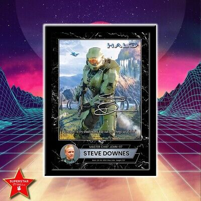 £12.99 • Buy Halo Master Chief Steve Downes Signed Gaming Poster Wall Art Framed